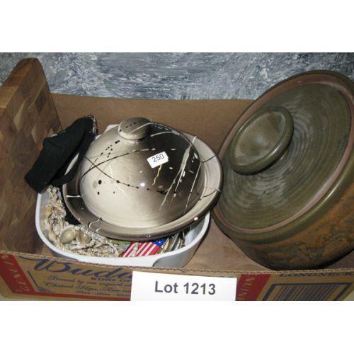 Stoneware Bowl, Cheese Dome, etc