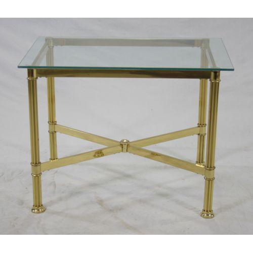 Brass & Glass Table