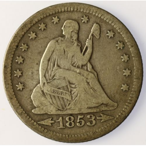 1853 Seated Quarter (Arrows & Rays)