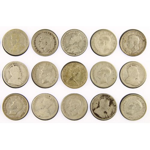 (15) Canadian Silver Quarters