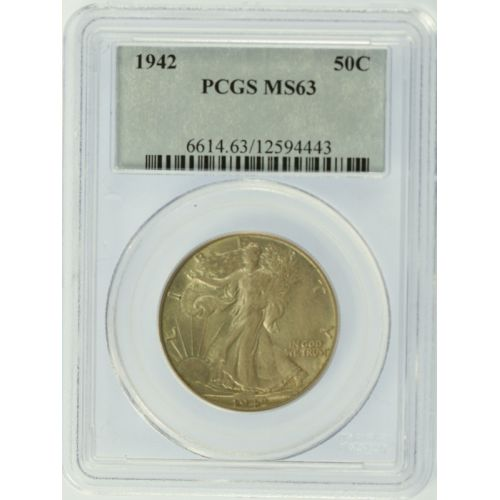 1942 Walking Half Dollar MS-63 (PCGS)