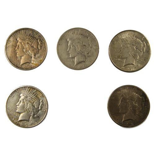 (5) Peace Dollars