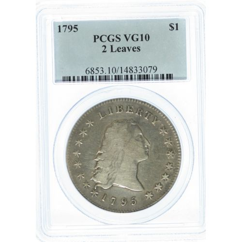 1795 $1 Liberty 2 Leaves VG10 (PCGS)