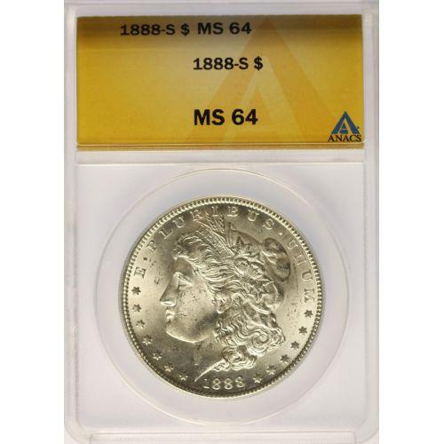 1888-S Morgan Dollar MS-64 (ANACS)