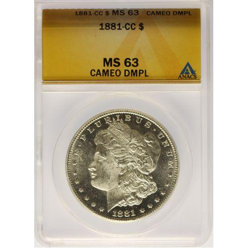 1881-CC Morgan Dollar MS-63 Cameo DMPL (ANACS)