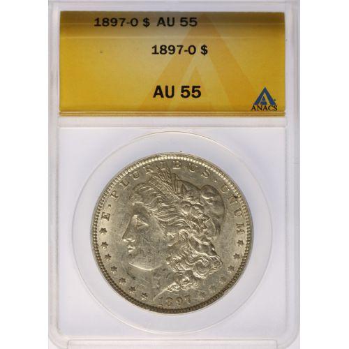 1897-O Morgan Dollar AU-55 (ANACS)