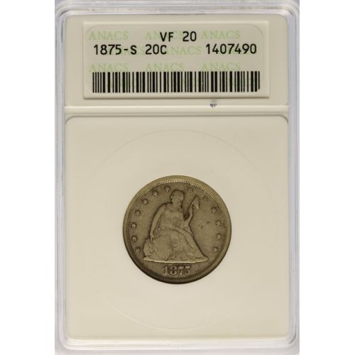 1875-S 20-Cent VF-20 (ANACS)