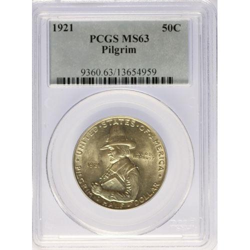 1921 Pilgrim Half Dollar MS-63 (PCGS)