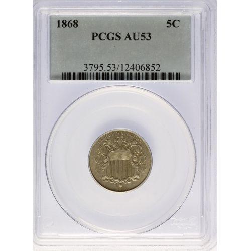1868 Shield Nickel AU-53 (PCGS)