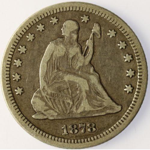 1878-CC Seated Quarter