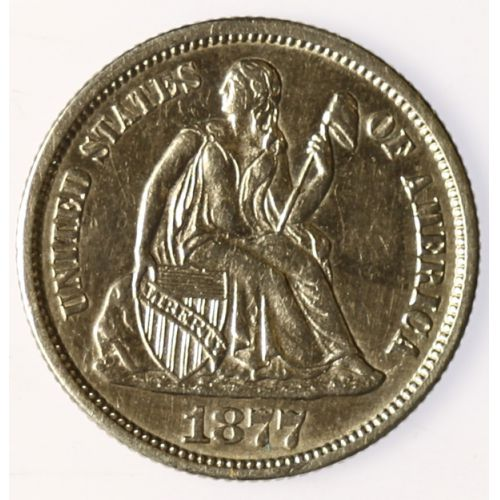 1877-CC Seated Dime