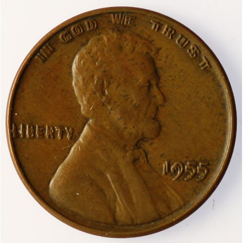 1955 Lincoln Cent Double-Die