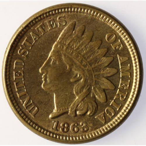 1863 Indian Head Copper Nickel