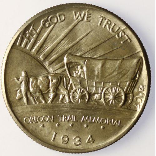1934-D Oregon Trail Half Dollar