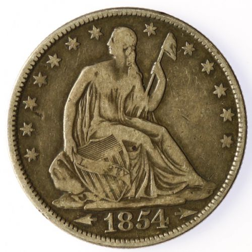 1854 Seated Half Dollar