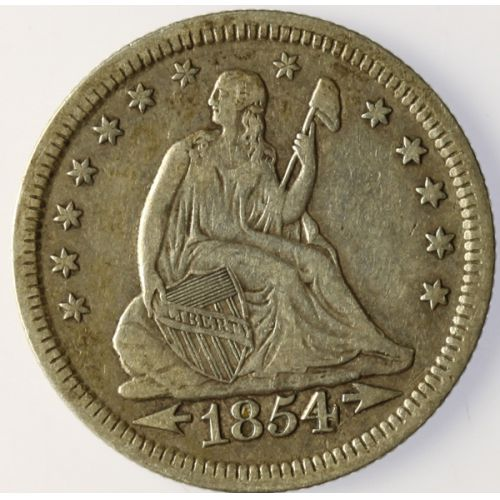 1854 Seated Quarter