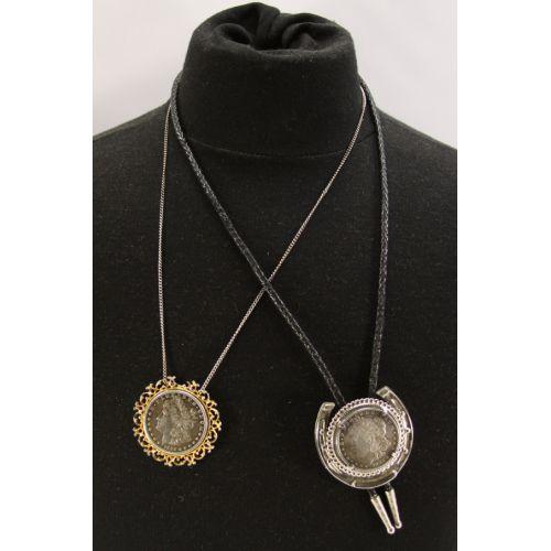 1882 & 1884 Morgan Dollar Necklaces