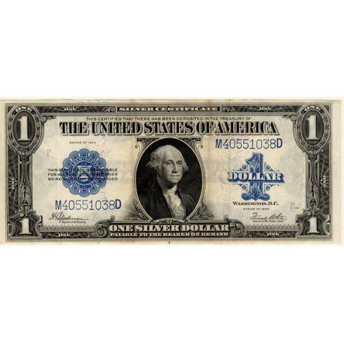 1923 $1 Large Silver Certificate Note / Bill