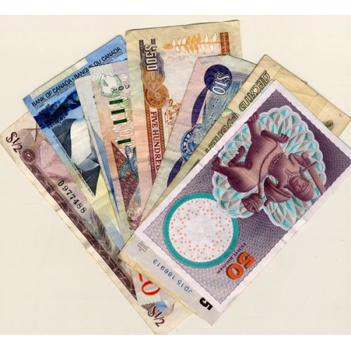 Foreign Notes / Bills Collection (9pcs.)