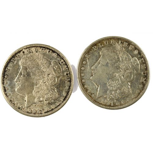 1921 Morgan Silver Dollars (2pcs.)