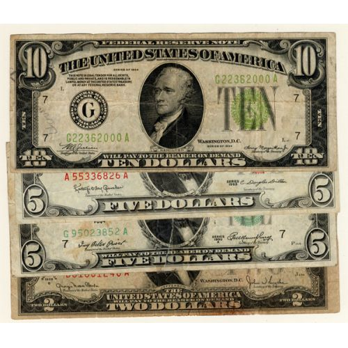 US Currency Collection (4pcs.)