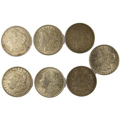 1921 Morgan Silver Dollars (7pcs.)