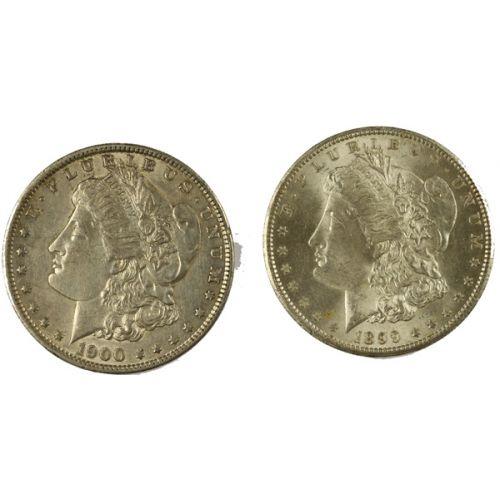 1899-O & 1900-O Morgan Silver Dollars