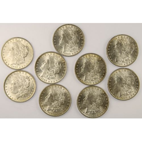 1888 Morgan Silver Dollars (9pcs.)