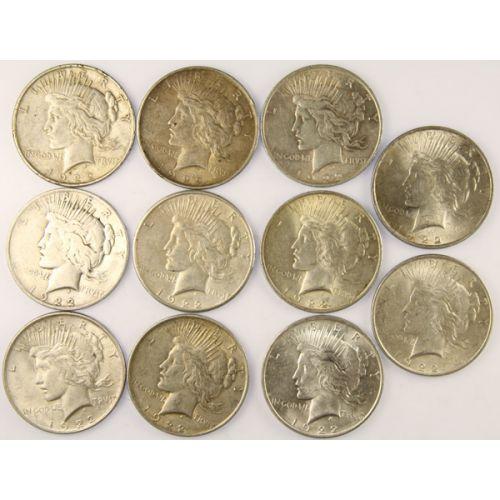 1922 Peace Silver Dollars (11pcs.)