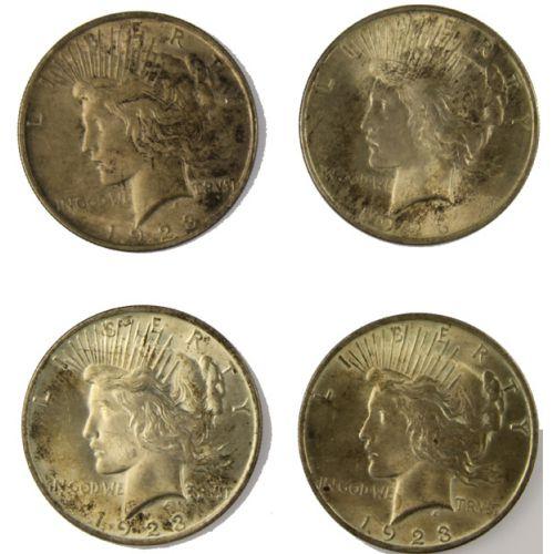 1923 Peace Silver Dollars (4pcs.)