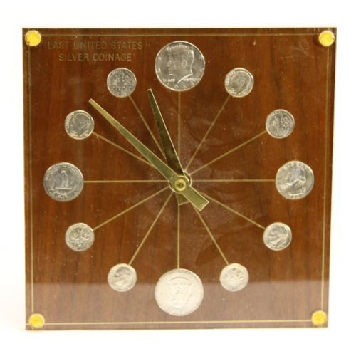1964 US Silver Coin Clock