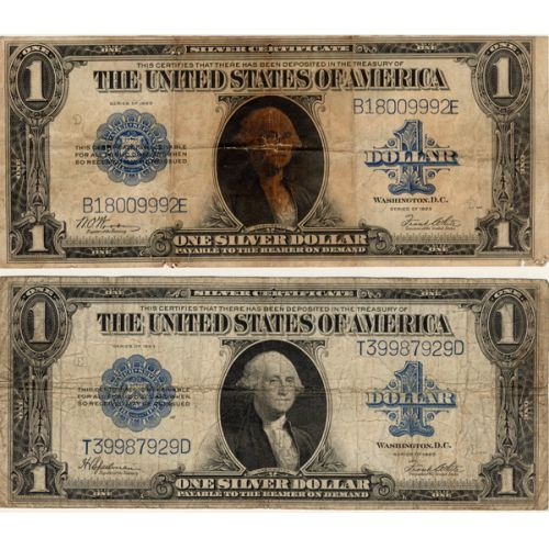 1923 $1 Large Notes (2pcs.)