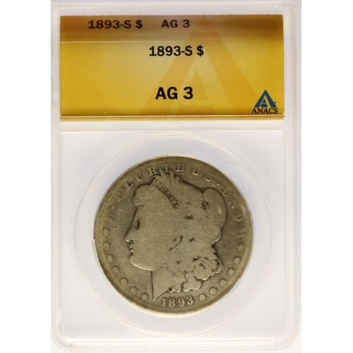 1893-S Morgan Dollar AG-3 (ANACS)