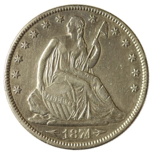 1874 Seated Half Dollar