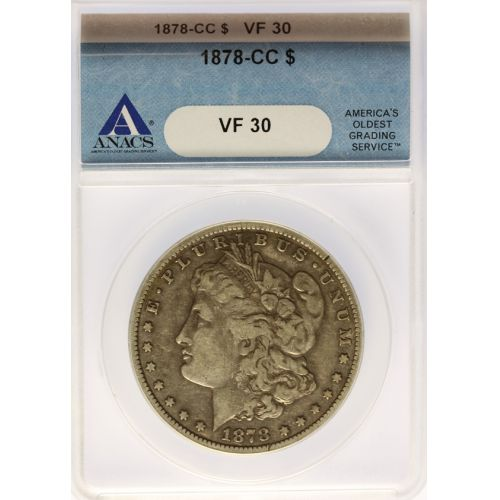 1878-CC Morgan Silver Dollar VF-30 (ANACS)