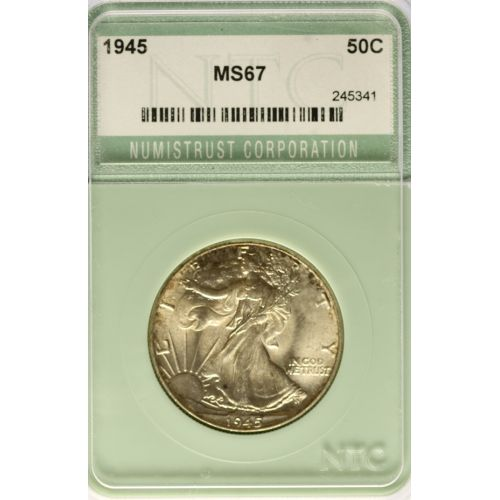 1945-P Walking Half Dollar MS-67 (NTC)