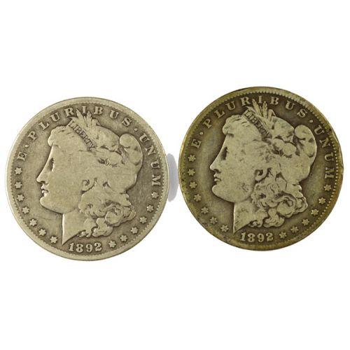 1892-O & 1892-S Morgan Silver Dollars