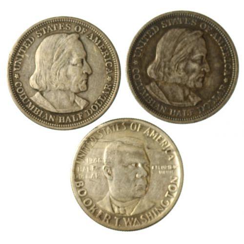 1892 & 1893 Columbian & 1946 Washington Half Dollars