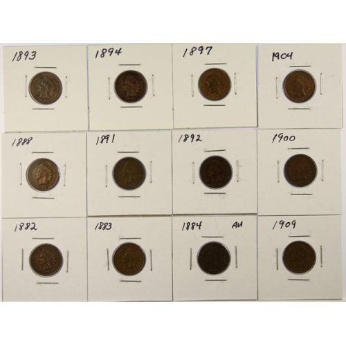 Indian Head Cents (12pcs.)