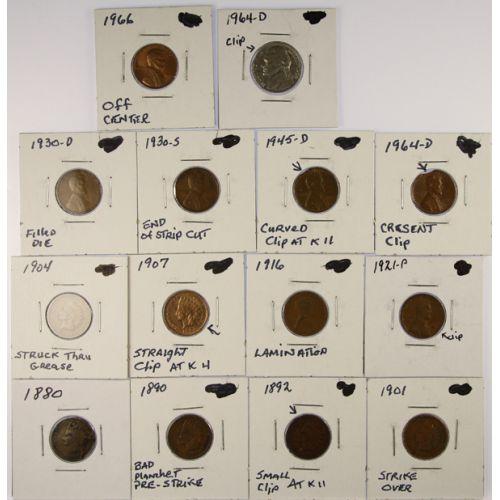 US Error Coins (14pcs.)