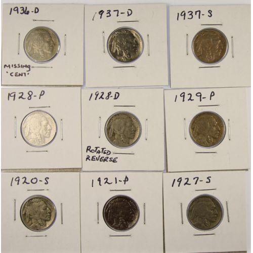 Buffalo Nickel Collection (9pcs.)