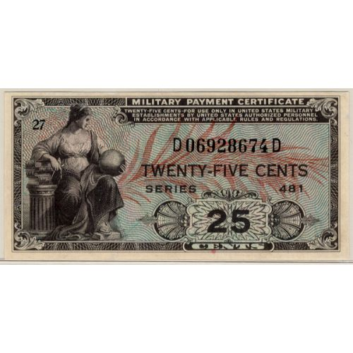 25-cent Military Currency