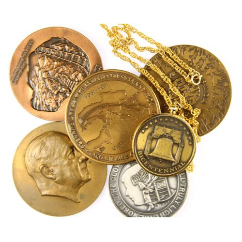 Bronze Medalions & Necklace (6pcs.)
