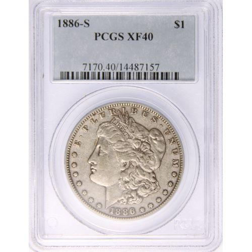 1886-S Morgan Dollar XF-40 (PCGS)