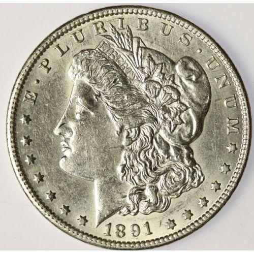 1891-CC Morgan Dollar