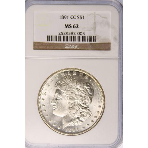 1891-CC Morgan Dollar MS-62 (NGC)
