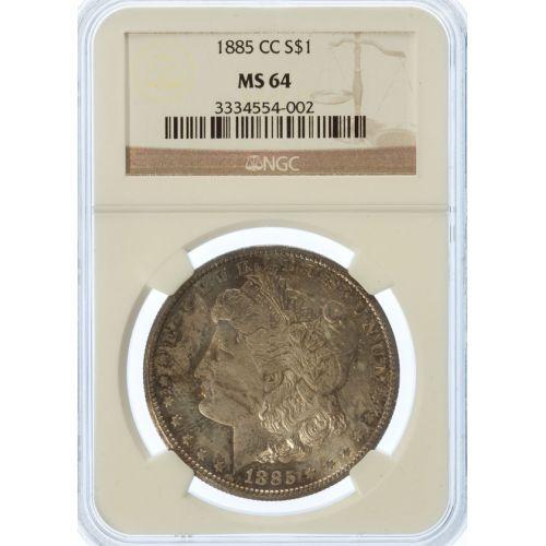 1885-CC Morgan Dollar MS-64 (NGC)