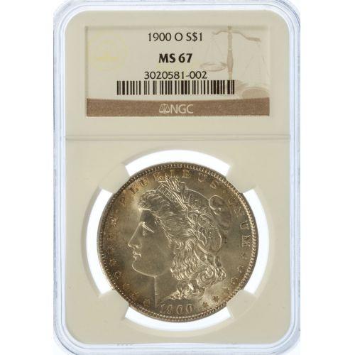 1900-O Morgan Dollar MS-67 (NGC)