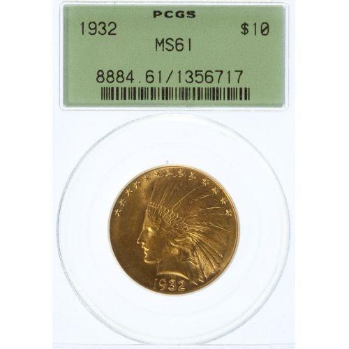1932 $10 Gold MS-61 (PCGS)