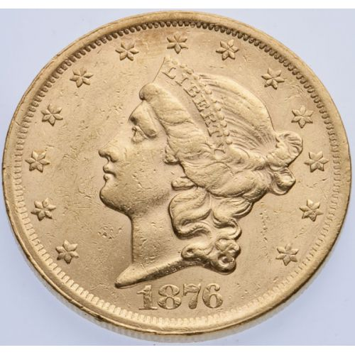 1876-S $20 Gold